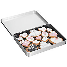 Buy Image on Food Wedding Gingerbread Biscuit Tin, 150g Online at johnlewis.com