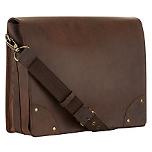 Buy John Lewis Kansas Buffalo Leather Messenger Bag Online at johnlewis.com