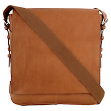 Buy Hidesign Cooper Andre Leather Messenger Bag, Tan Online at johnlewis.com