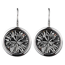 Buy Dyrberg/Kern Louise Solitaire Swarovski Crystal Round Drop Earrings Online at johnlewis.com