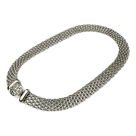 Buy Adele Marie Silver Toned Diamante Choker Necklace Online at johnlewis.com