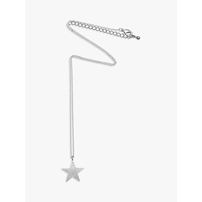 Estella Bartlett Bright Star Pendant Necklace, Silver