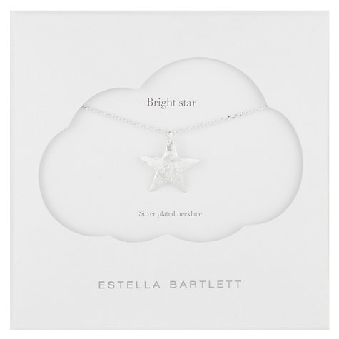 Buy Estella Bartlett Bright Star Pendant Necklace, Silver Online at johnlewis.com