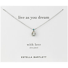 Buy Estella Bartlett Silver Plated Live As You Dream Crystal Pendant Necklace Online at johnlewis.com