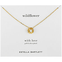 Buy Estella Bartlett Gold and Silver Plated Wildflower Pendant Necklace Online at johnlewis.com