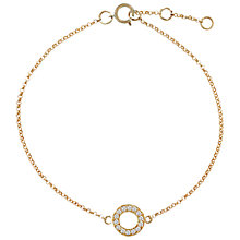 Buy London Road Meridian Diamond Circle 9ct Gold Bracelet Online at johnlewis.com