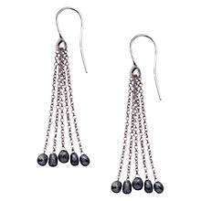 Buy London Road Portobello 9ct Gold Black Diamond Tassel Earrings Online at johnlewis.com