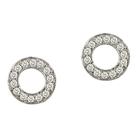 Buy London Road Meridian 9ct Gold Diamond Circle Stud Earrings Online at johnlewis.com