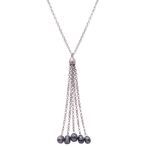 Buy London Road Portobello 9ct Gold Black Diamond Tassel Pendant Online at johnlewis.com