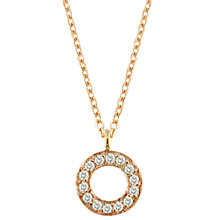 Buy London Road Meridian 9ct Gold Diamond Set Circle Pendant Online at johnlewis.com