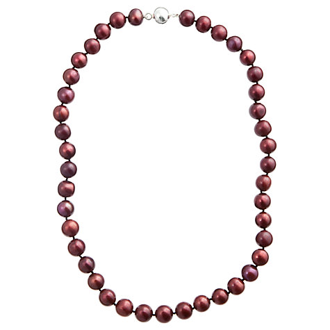 Buy A B Davis River Pearl Magentic Clasp Necklace, Claret Online at johnlewis.com
