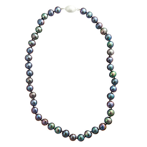 Buy A B Davis River Pearl Magentic Clasp Necklace, Peacock Online at johnlewis.com
