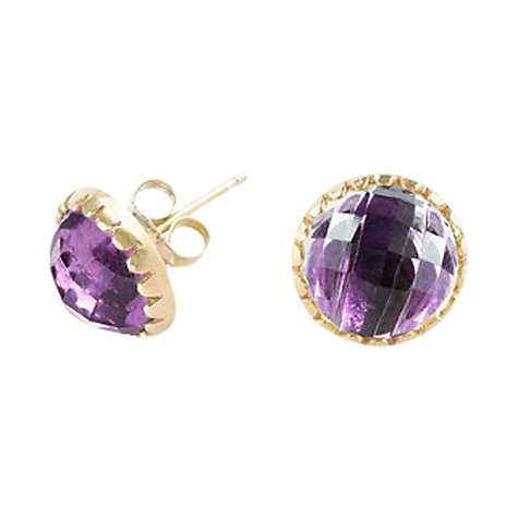 Buy Dower & Hall Gold Vermeil Faceted Stud Earrings Online at johnlewis.com
