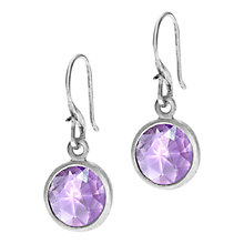 Buy Dower & Hall Sterling Silver Amethyst Drop Hook Earrings Online at johnlewis.com