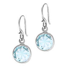 Buy Dower & Hall Sterling Silver Blue Topaz Drop Hook Earrings Online at johnlewis.com