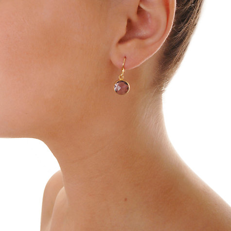 Buy Dower & Hall Gold Vermeil Drop Hook Earrings Online at johnlewis.com