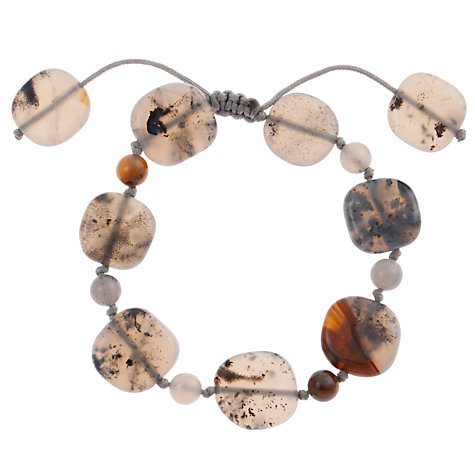 Buy Lola Rose Dendra Agate Circle Adjustable Bracelet, Grey Online at johnlewis.com