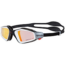 Buy Speedo Rift Pro Mirror Swimming Goggles, Black/Orange Online at johnlewis.com