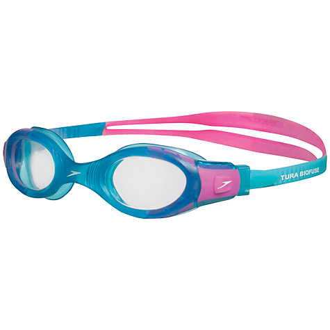 Buy Speedo Futura Biofuse Junior Swimming Goggles, Blue/Pink Online at johnlewis.com