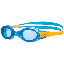 Buy Speedo Futura Biofuse Junior Swimming Goggles, Orange/Blue Online at johnlewis.com