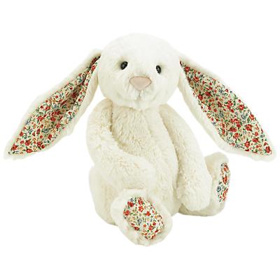 Jellycat Bashful Blossom Bunny Soft Toy, Medium, Cream