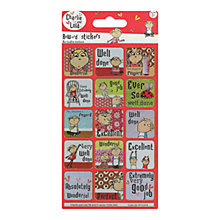Buy Charlie & Lola Reward Stickers Online at johnlewis.com