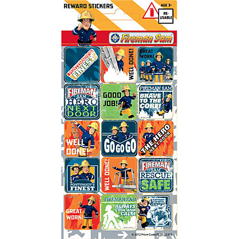 Buy Fireman Sam Reward Stickers Online at johnlewis.com