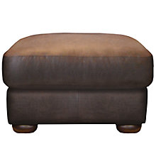 Buy John Lewis Madison Semi-Aniline Leather Footstool, Colorado Online at johnlewis.com