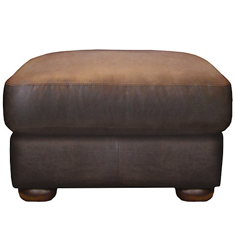 Buy John Lewis Madison Leather Footstool, Colorado Online at johnlewis.com