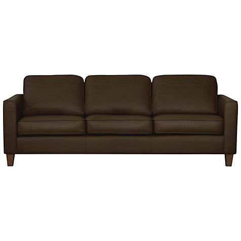 Buy John Lewis Portia Grand Sofa, Madras Earth Hide Online at johnlewis.com