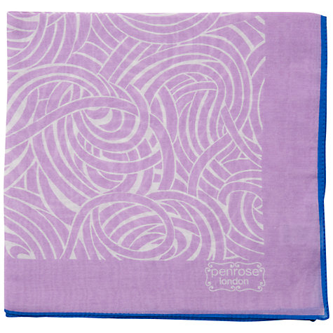 Buy Penrose London Brockley Pocket Square, Lilac Online at johnlewis.com