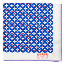 Buy Penrose London Chiswick Pocket Square, White/Blue Online at johnlewis.com