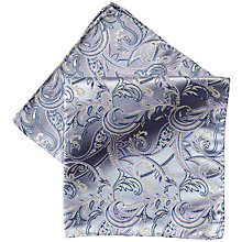 Buy Duchamp Silk Pocket Square, Grey Online at johnlewis.com