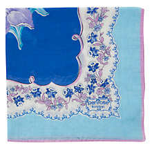 Buy Penrose London Richmond Pocket Square, Blue Online at johnlewis.com
