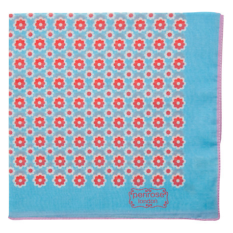 Buy Penrose London St James Pocket Square, Blue/Red Online at johnlewis.com