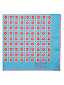 Penrose London St James Pocket Square, Blue/Red