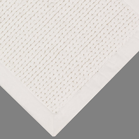 Buy John Lewis White Shop Chunky Knit Bath Mats Online at johnlewis.com