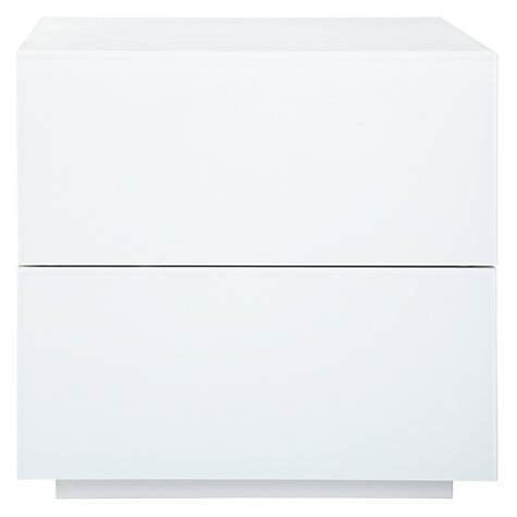 Buy John Lewis Treviso Bedside Table, White glass Online at johnlewis.com