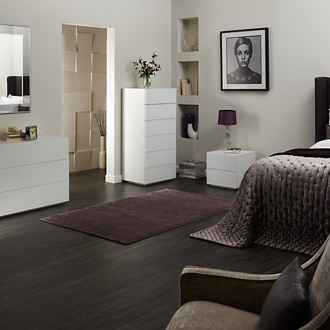 Buy John Lewis Treviso 3 Drawer Chest, White glass Online at johnlewis.com