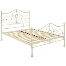 Buy John Lewis Alice High End Bedstead, Cream, Double Online at johnlewis.com