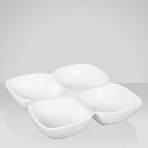 Buy House by John Lewis Porcelain 4 Segment Dip Dish Online at johnlewis.com
