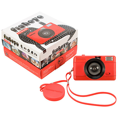 Buy Lomography Fisheye 1 Analogue Camera, Red Online at johnlewis.com