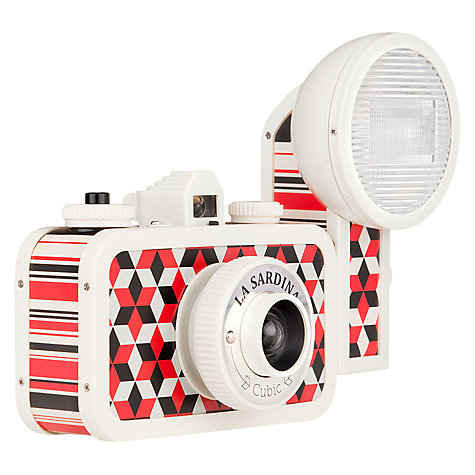 Buy Lomography La Sardina Cubic Analogue Camera with Flash Online at johnlewis.com