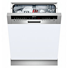 Buy Neff S41M63N1GB Semi-Integrated Dishwasher, Stainless Steel Online at johnlewis.com