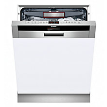 Buy Neff S41T69N2GB Semi-Integrated Dishwasher, Stainless Steel Online at johnlewis.com