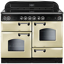 Buy Rangemaster Classic 110 Electric Range Cooker and LEIHDC110CR/C Chimney Cooker Hood, Cream Online at johnlewis.com