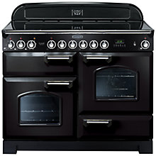 Buy Rangemaster Classic Deluxe 110 Electric Range Cooker and LEIHDC110BC Chimney Cooker Hood, Black Online at johnlewis.com