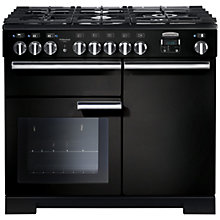 Buy Rangemaster Professional 100 Deluxe Dual Fuel Range Cooker, Black Online at johnlewis.com
