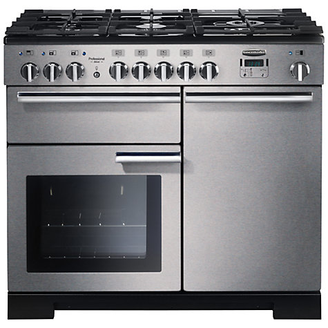 Buy Rangemaster Professional 100 Deluxe Dual Fuel Range Cooker, Stainless Steel Online at johnlewis.com