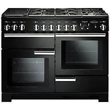 Buy Rangemaster Professional 110 Deluxe Dual Fuel Range Cooker, Black Online at johnlewis.com